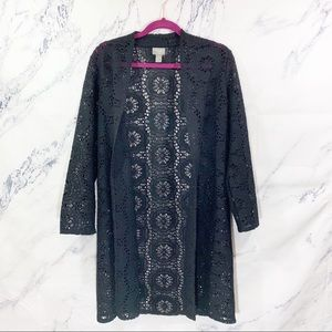 Chico's Traveler's Lace Open Cardigan